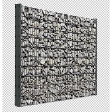 Gabionenset mit Doppelstabmatten 1,2m Länge Pulverbeschichtet