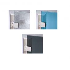 ESG Sichtschutz Strukturglas/blau/anthrazit für Terassen und Balkone