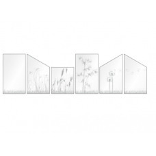 ESG Gelasert verschiedene Dekore mit Grass unten für Terassen und Balkone