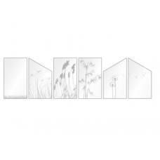 ESG Gelasert verschiedene Dekore für Terassen und Balkone