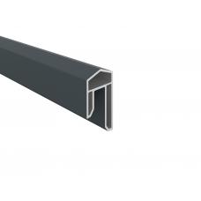 Anthrazit PVC-Abdeckleiste