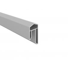 Silbergrau  PVC-Abdeckleiste
