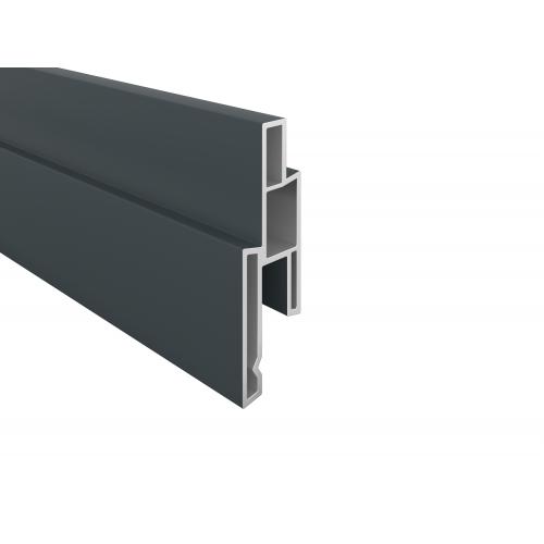 Anthrazit PVC-Nutprofil