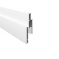 Weiss PVC-Nutprofil