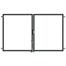 Sichtschutz-Doppeltor zweiflügelig