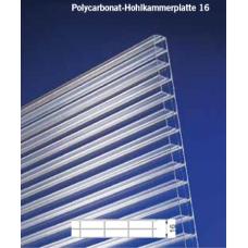 Polycarbonat-Hohlkammerplatte 16 Klar