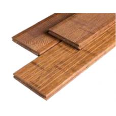 Bambus genutet/geriffelt Coffee-farben