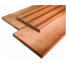 Bambus XL Platte glatt/franz. geriffelt coffee-farben