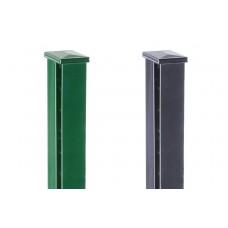 DS Premium Zaunpfosten mit Abdeckkaooe für Steigungen, Gefälle und Schraubenloses Design