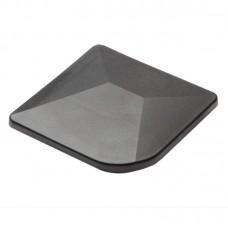 Eckpfosten - Aluminium-Kappe ~ mit Überstand - 60 x 60