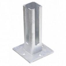 Fußplatte - für Eckpfosten 60x60 silbergrau_(verzinkt)